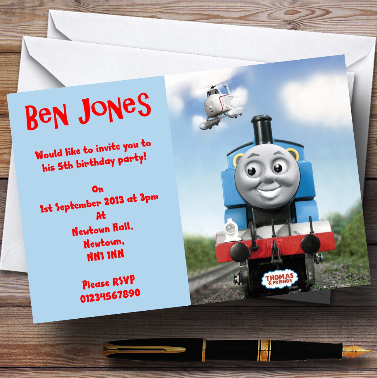 Thomas The Tank Engine Personalised Children\'s Party Invitations ...