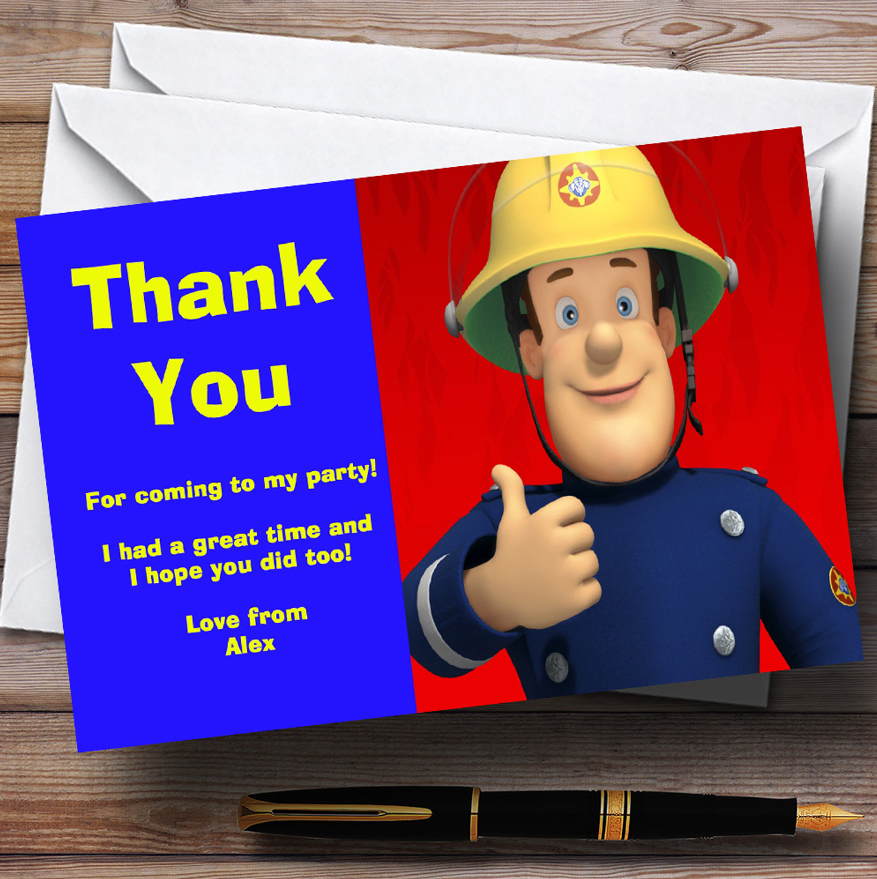 Fireman Sam Personalised Childrens Birthday Card The Card Zoo – Fireman Sam Birthday Cards
