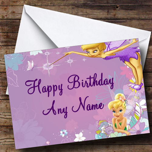 Tinkerbell Fairy Personalised Birthday Card The Card Zoo – Tinkerbell Birthday Card