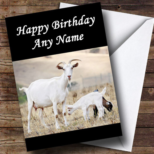 Goat Funny Old Age Joke Personalised Birthday Card The Card Zoo – Goat Birthday Card