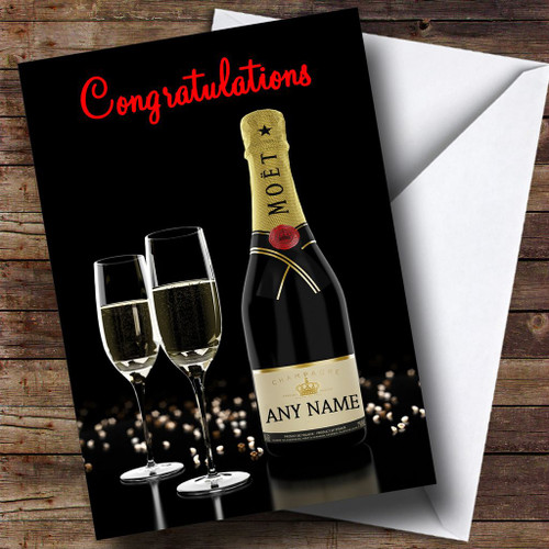 Moet Champagne Personalised Congratulations Card