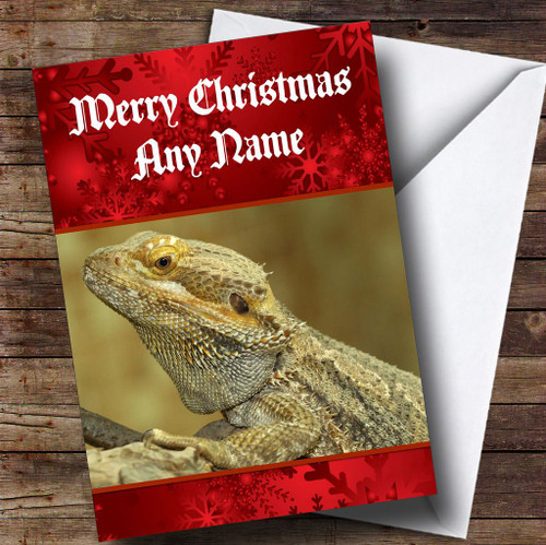 Bearded Dragon Lizard Personalised Birthday Card The Zoo