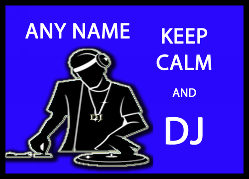 Keep Calm And Dj Personalised Computer Mousemat The Card Zoo