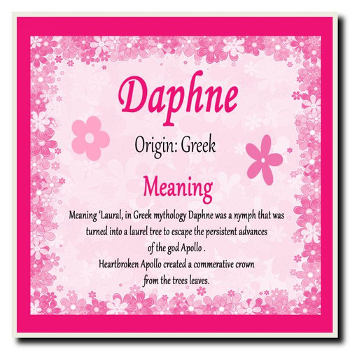 Daphne Personalised Name Meaning Placemat - The Card Zoo