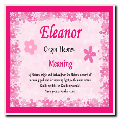 Eleanor Personalised Name Meaning Mousemat The Card Zoo
