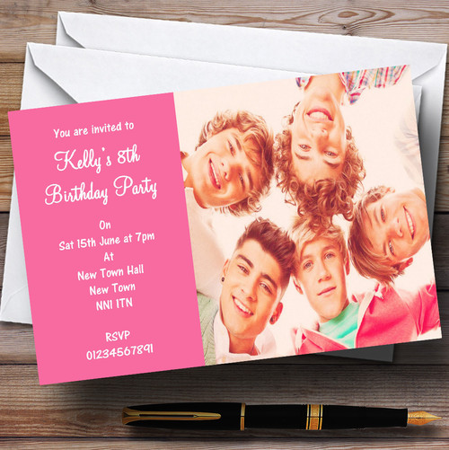 One Direction D Personalised Birthday Card The Card Zoo – One Direction Personalised Birthday Card