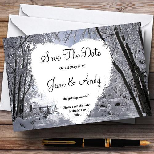 Winter Wedding Snow Scene Personalised Wedding Invitations The – Winter Wedding Save the Date