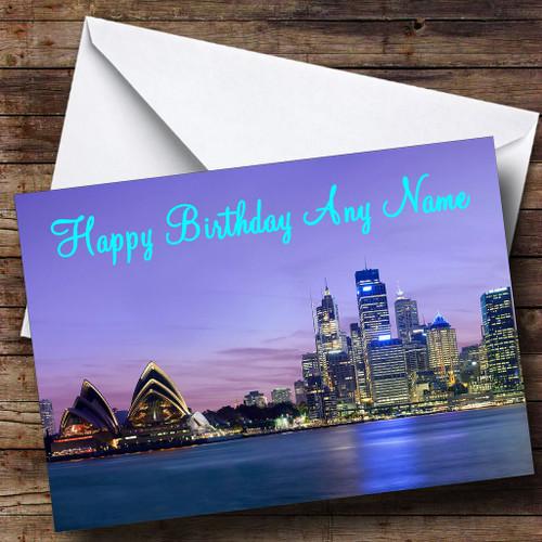 Sydney Australia Personalised Birthday Card The Card Zoo – Birthday Card Australia
