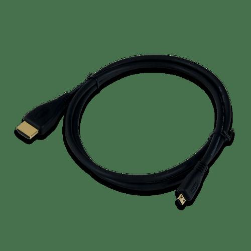 HDMI A to Micro D, oblique.