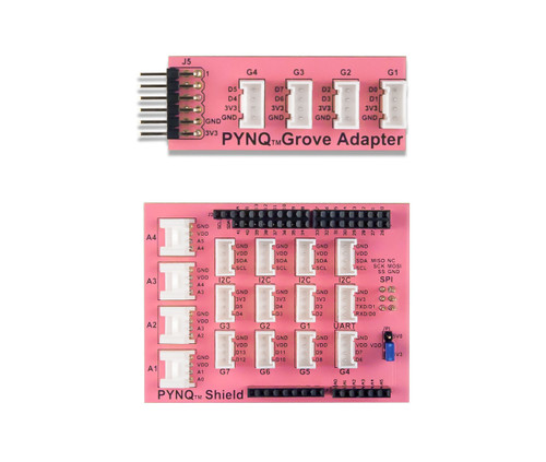 Choose between the PYNQ Grove System Pmod Adapter or the PYNQ Grove System Shield