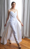 Vivian Pleated Sweetheart Strapless Bridal Jumpsuit (Look)
