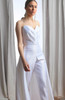 Vivian Pleated Sweetheart Strapless Bridal Jumpsuit (Detail)