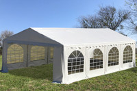 PE Party Tent 26'x16' White- Heavy Duty Wedding Canopy Gazebo