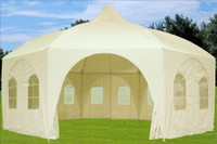 Poly Party Tent 20'x20' Octagonal - Wedding Party Tent - White