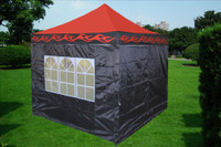 Red Flame 10'x10' Pop up Tent with 4 Sidewalls - E Model