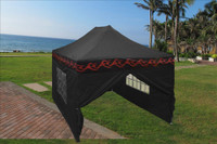 Black Flame 10'x15' Pop up Tent with 4 Sidewalls - F Model  New Frame