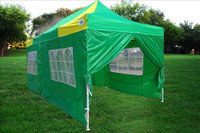 Green Yellow 10'x20' Pop up Tents with 6 Sidewalls - F Model Upgrade Frame