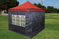 Red Flame 10'x10' Pop up Tent with 4 Sidewalls - F Model Upgraded Frame