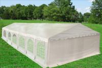 PE Party Tent 40'x20' - Heavy Duty Wedding Canopy - White