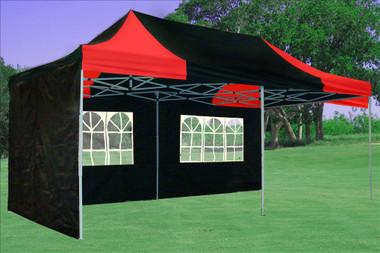 Image 1 & Black Red 10u0027x20u0027 Pop up Tent with 6 Sidewalls