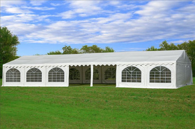 Image 1 & White 49u0027x23u0027 PVC Party Tent - Heavy Duty Party Wedding Tent