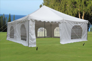 Image 1 & White 20u0027x20u0027 PVC Pole Party Tent