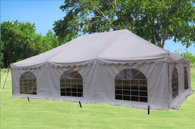 Image 1 & White 30u0027x20u0027 PVC Pole Tent
