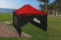 Red Flame 10'x15' Pop up Tent with 4 Sidewalls - F Model Upgraded Frame