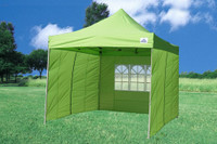 Emerald 10'x10' Pop up Tent with 4 Sidewalls - F Model Upgraded Frame