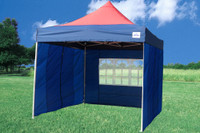 Navy Blue Red 10'x10' Pop up Tent with 4 Sidewalls - F Model Upgraded Frame