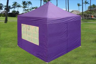 Image 1 & purple 10x10 pop up tent canopy