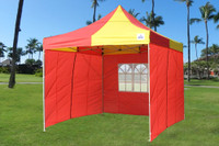 Red Yellow 10'x10' Pop up Tent with 4 Sidewalls - E Model