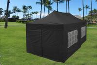 Black 10u0027x20u0027 Pop up Tent with 6 Sidewalls ... & Maroon 10u0027x20u0027 Pop up Tent with 6 Sidewalls