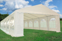PE Party Tent 40'x16' - Heavy Duty Wedding Canopy - White