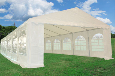 Image 1 & White 40u0027x16u0027 PE Party/Wedding Tent