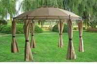 11'x11' Steel Gazebo Canopy - Beige