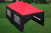 Red Flame 10'x20' Pop up Tent with 6 Sidewalls - E Model