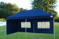 Navy Blue 10'x20' Pop up Tent with 6 Sidewalls - E Model