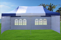 Blue White 10'x20' Pop up Tent with 6 Sidewalls - E Model