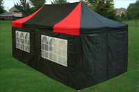 Black Red 10'x20' Pop up Tent with 6 Sidewalls - E Model