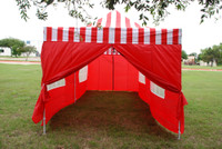 Red Stripe 10'x20' Pop up Tent with 6 Sidewalls - E Model