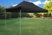 Black 10'x15' Pop up Tent with 4 Sidewalls - F Model Upgraded Frame