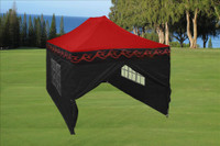 Red Flame 10'x15' Pop up Tent with 4 Sidewalls - E Model