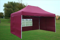 Maroon 10'x15' Pop up Tent with 4 Sidewalls E Model