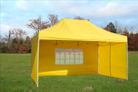 Yellow 10'x15' Pop up Tent with 4 Sidewalls - E Model