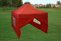 Red 10'x15' Pop up Tent with 4 Sidewalls - E Model