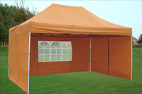 Burnt Orange 10'x15' Pop up Tent with 4 Sidewalls - E Model