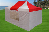 Red White 10'x15' Pop up Tent with 4 Sidewalls - E Model