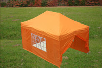 Orange 10'x15' Pop up Tent with 4 Sidewalls - E Model