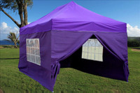 Purple 10'x15' Pop up Tent with 4 Sidewalls - E Model